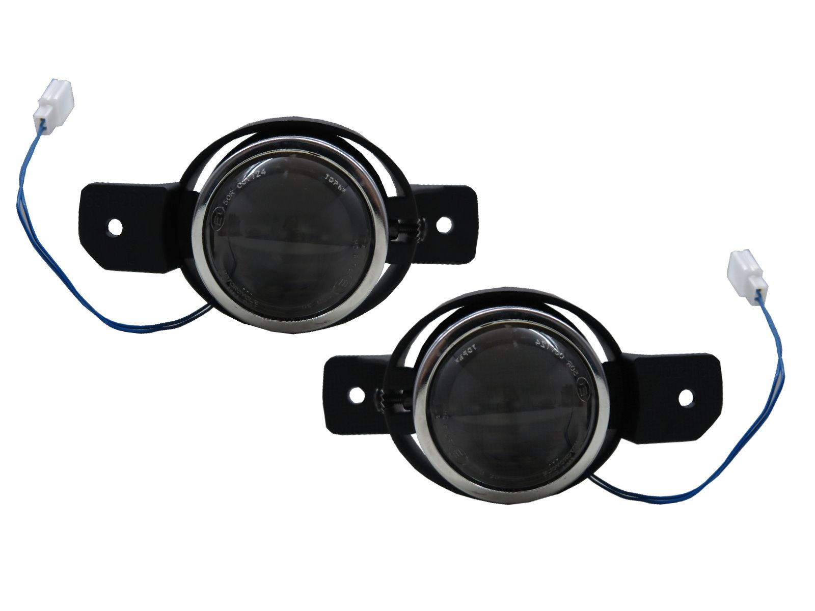 VERSA N17 MK2 2012-2019 Sedan 4D Projector Dual Beam Fog Light Black for NISSAN