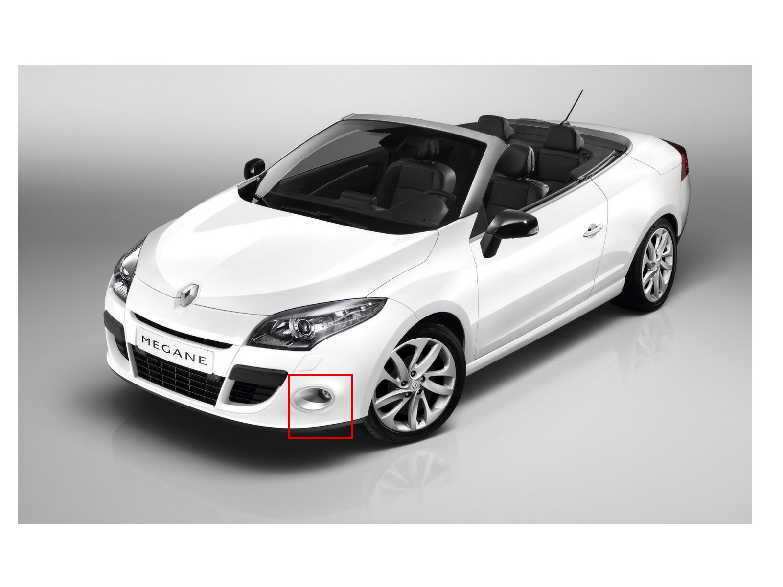 megane ii coupe cabrio 2003 2009 drl led glass fog light lamp for renault ebay. Black Bedroom Furniture Sets. Home Design Ideas