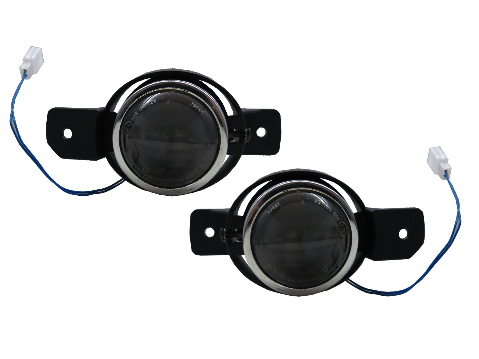 Thalia MK2 08-13 Pre-Facelift 4D Projector Dual Beam Fog Light Black for RENAULT