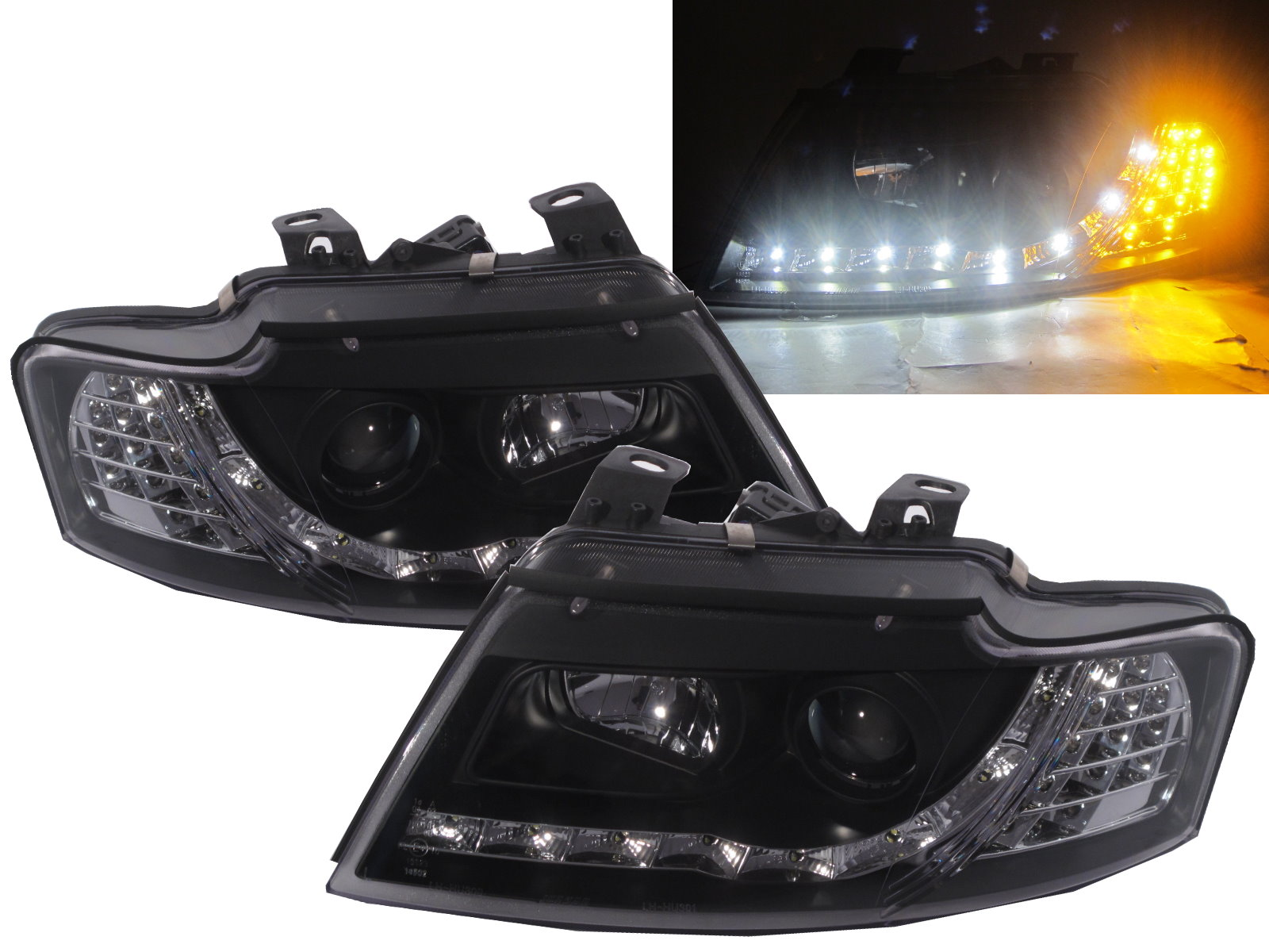 A4 S4 2002 2005 B6 Cabriolet 8h Projector Headlight Drl R8