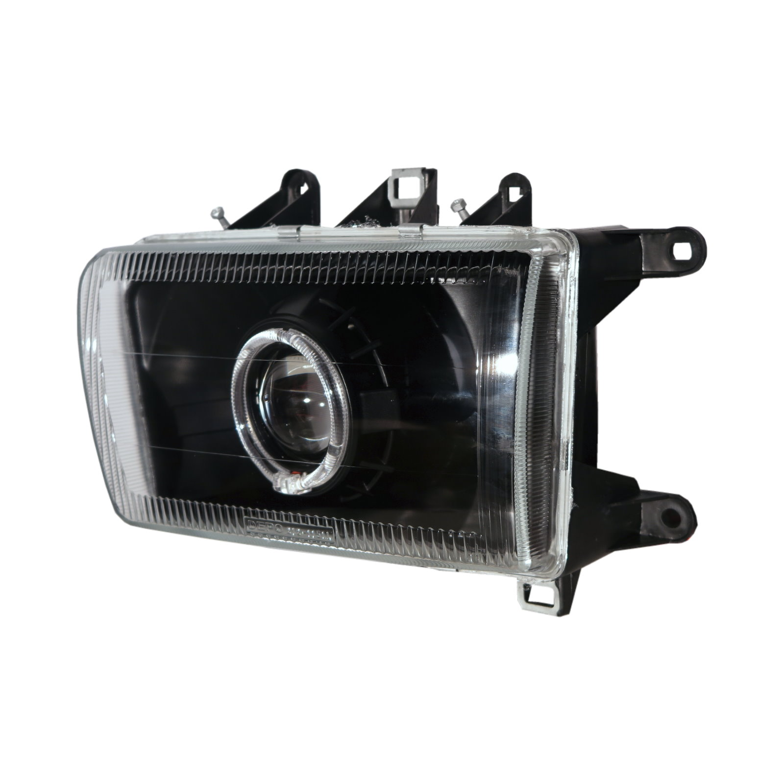 thumbnail 2 - Deer 02-03 SUV 5D Guide LED Angel-Eye Projector Headlight BK for Great Wall LHD
