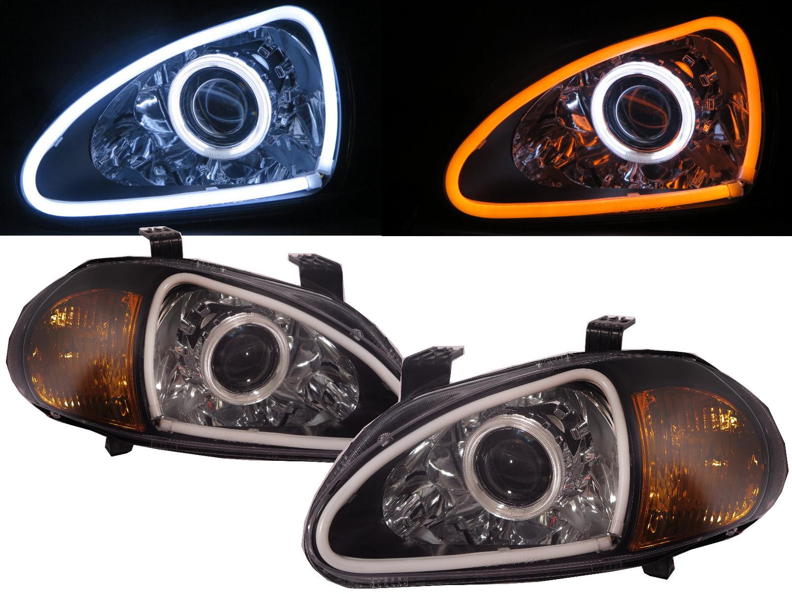 DEL SOL CRX 93 97 2D CCFL BI XENON Projector Headlight BK for HONDA
