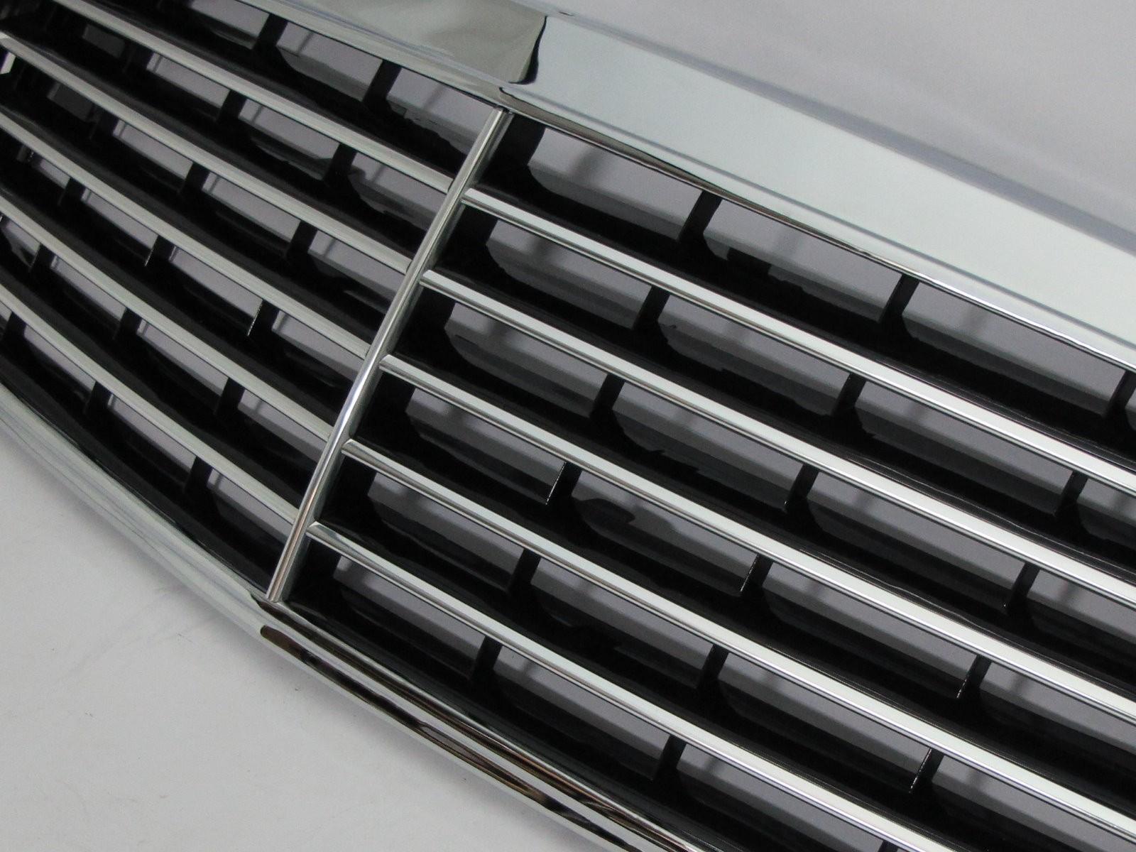 CrazyTheGod Grille de calandre Classe C W202//C202 1994 2000 berline//break 4D//5D 11MD chrom/é//noir en fibre de carbone
