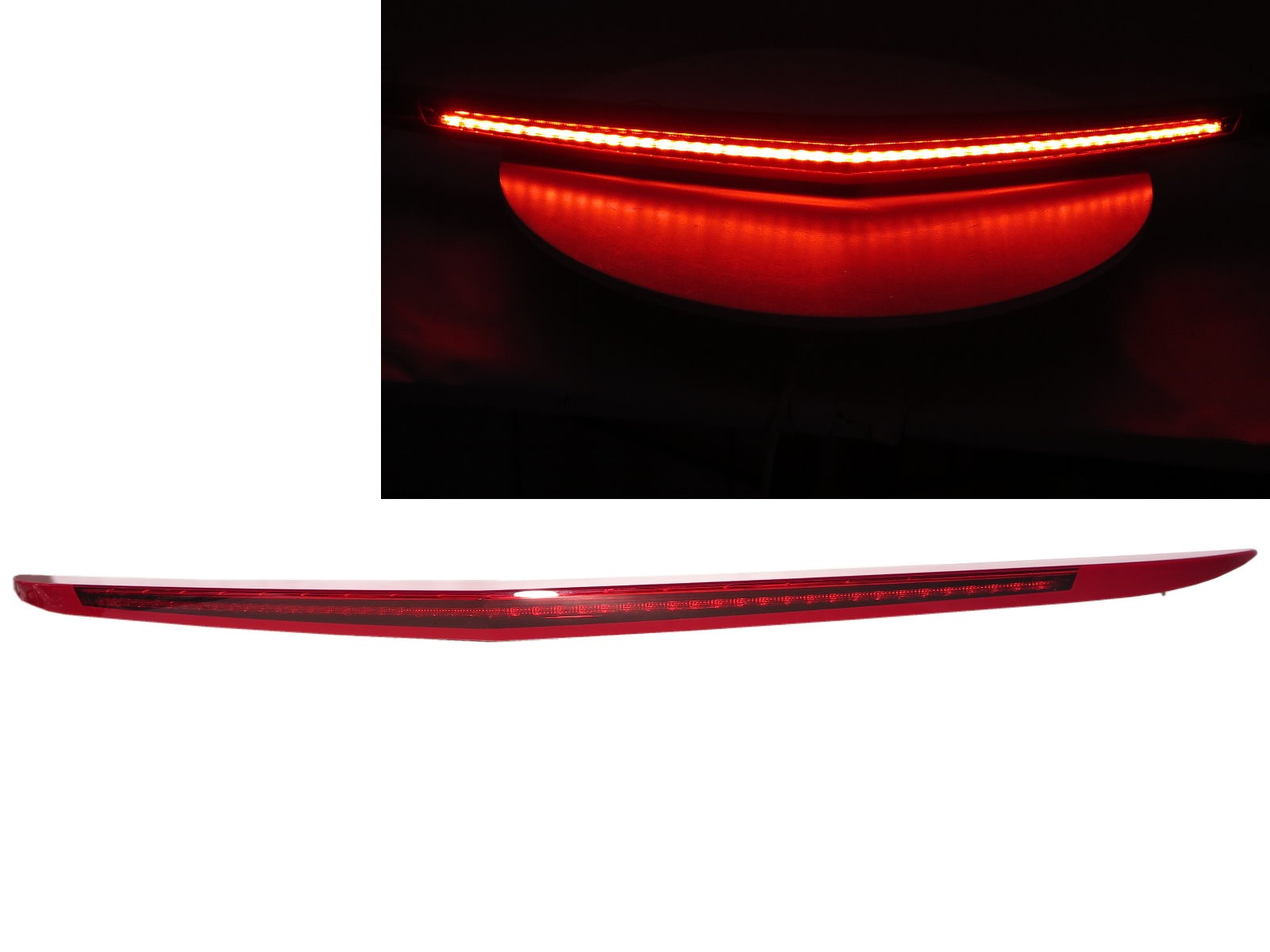 CrazyTheGod XTS 2013-2017 Pre-Facelift Sedan 4D LED Rear Tail Third Brake Light Red for CADILLAC