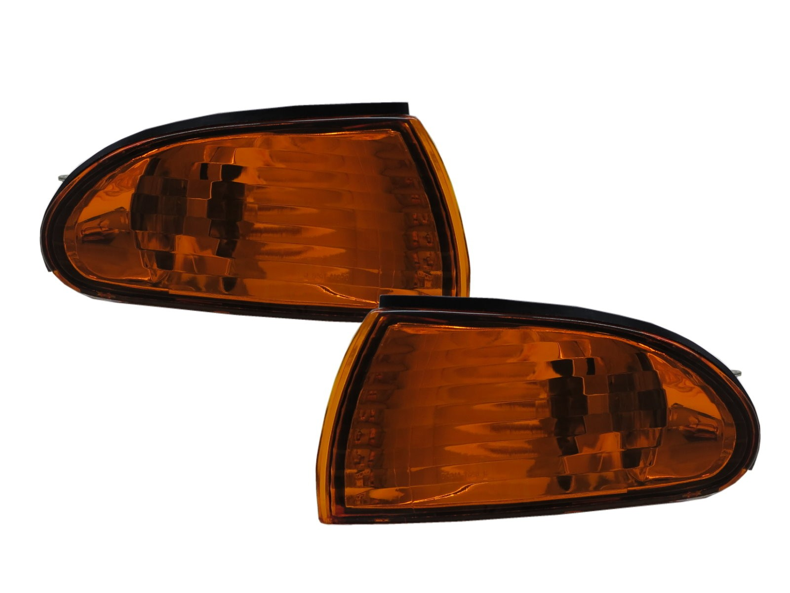 CrazyTheGod SUMMIT Second generation 1993-1996 Sedan 4D Clear Corner Light Amber/Yellow for EAGLE