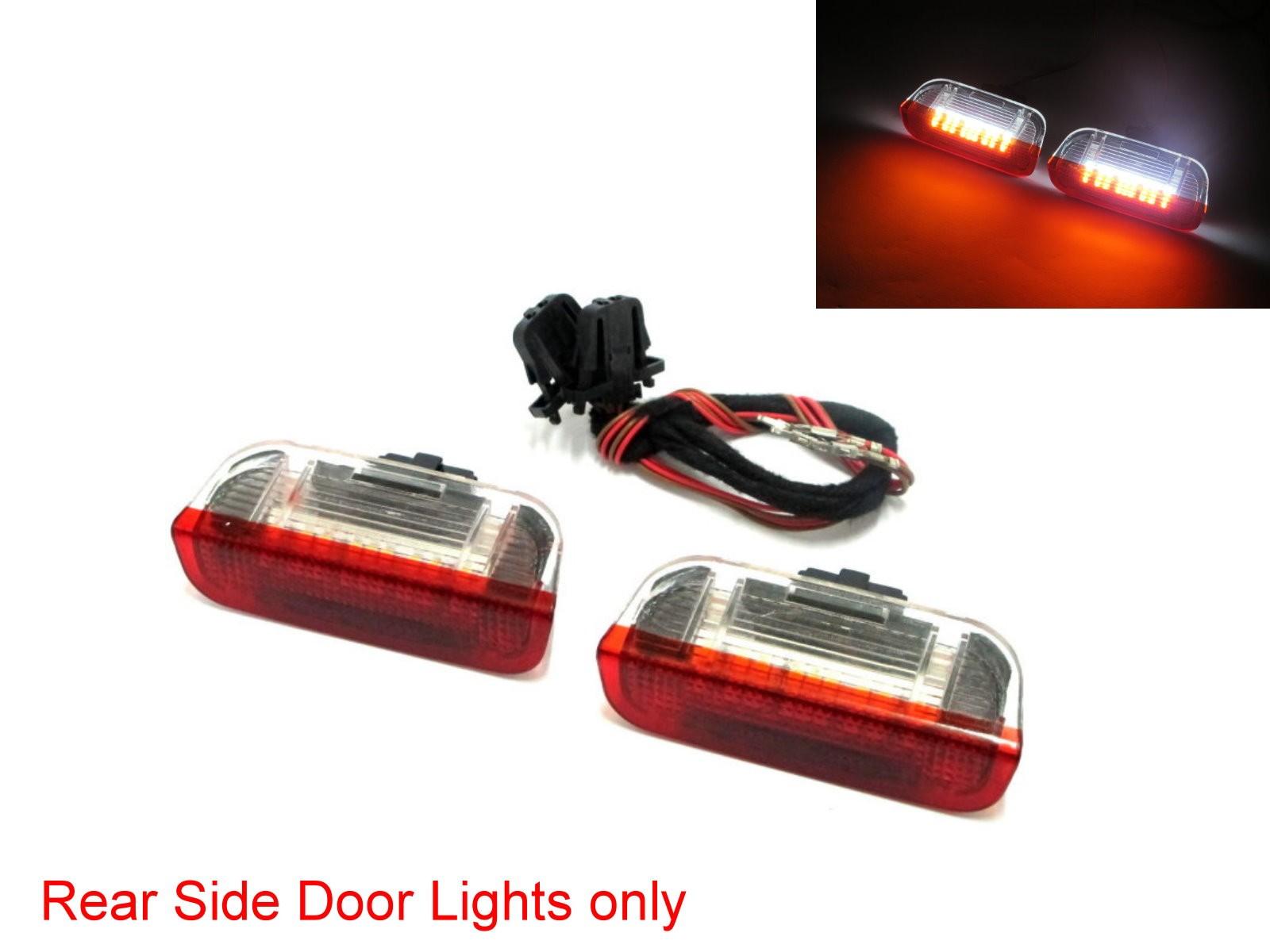 CrazyTheGod Panamera 2010-Present SUV 5D LED Courtesy Side Door Light Red/White V2 for PORSCHE