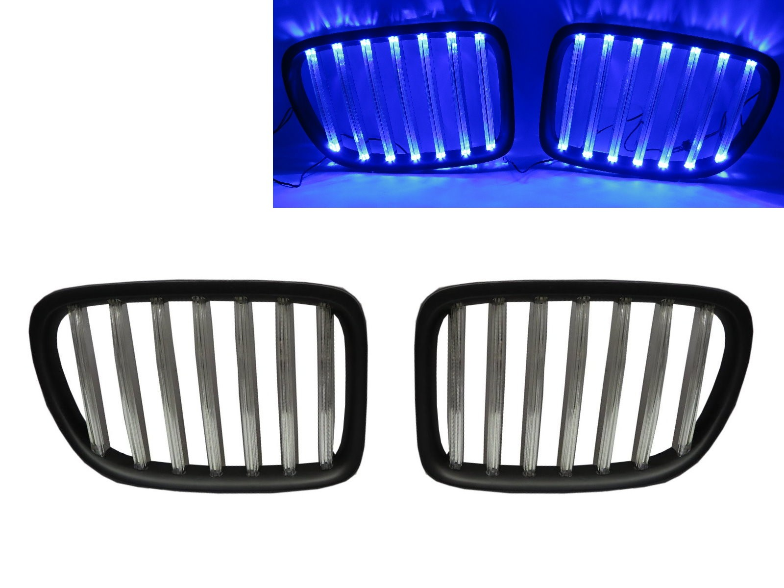 CrazyTheGod X1 E84 First generation 2009-2015 Wagon 5D LED BAR GRILLE/GRILL Chrome/Black for BMW