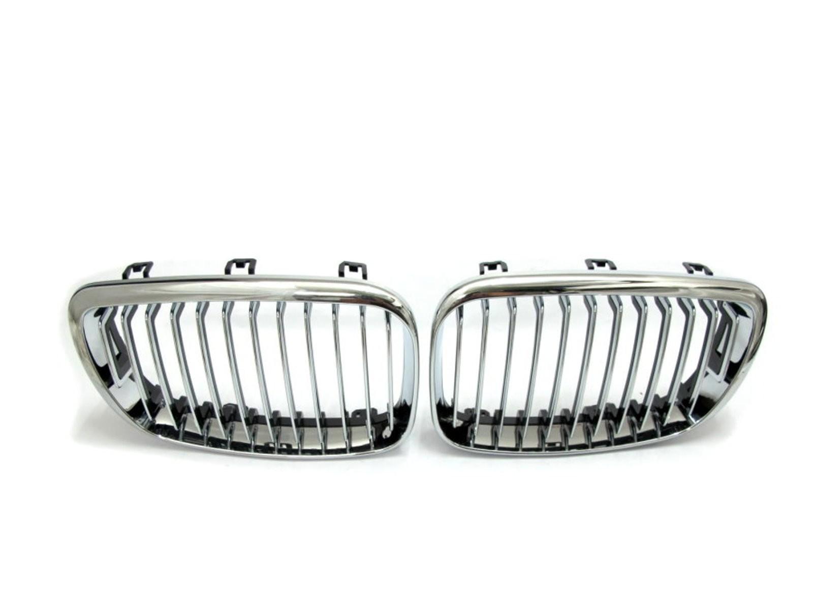 CrazyTheGod 1-Series E81/E82/E87/E88 2008-2012 Hatchback 5D GRILLE/GRILL Chrome for BMW