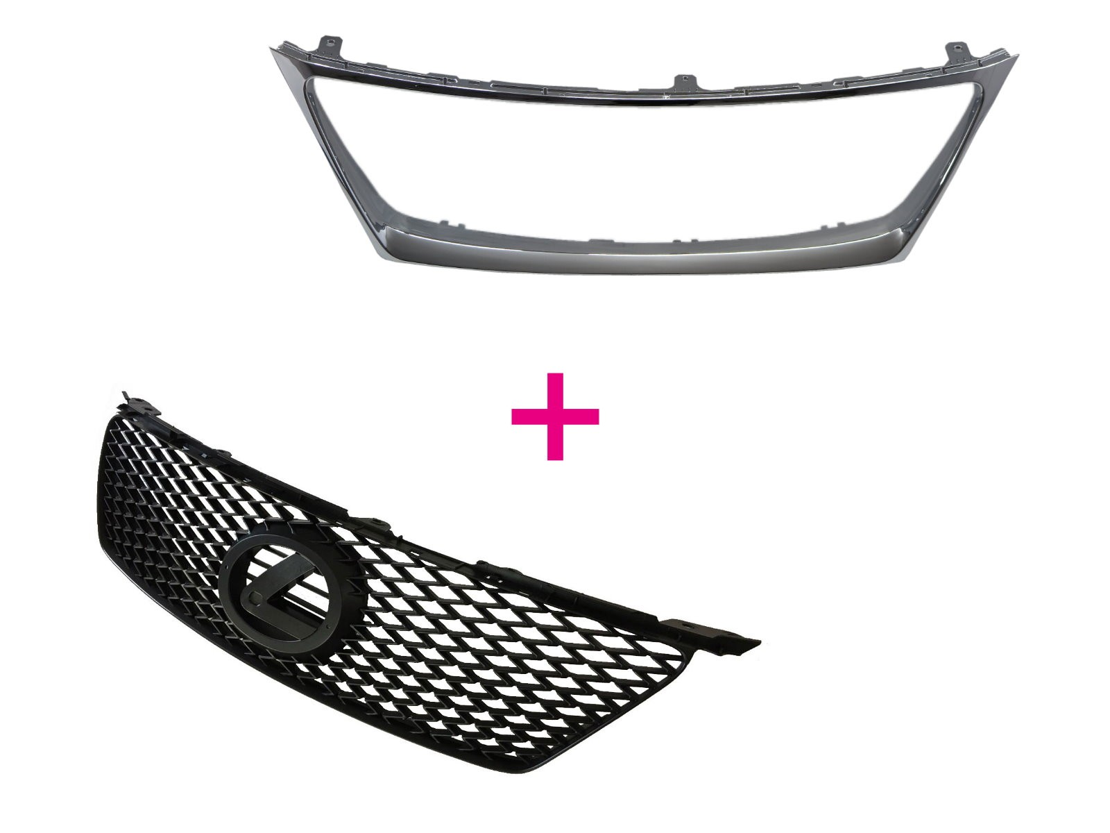 CrazyTheGod IS IS250/IS350/IS220D XE20 Second generation 2005-2008 PRE-FACELIFT Sedan 4D ISF Style GRILLE/GRILL Matt Black V2 for LEXUS