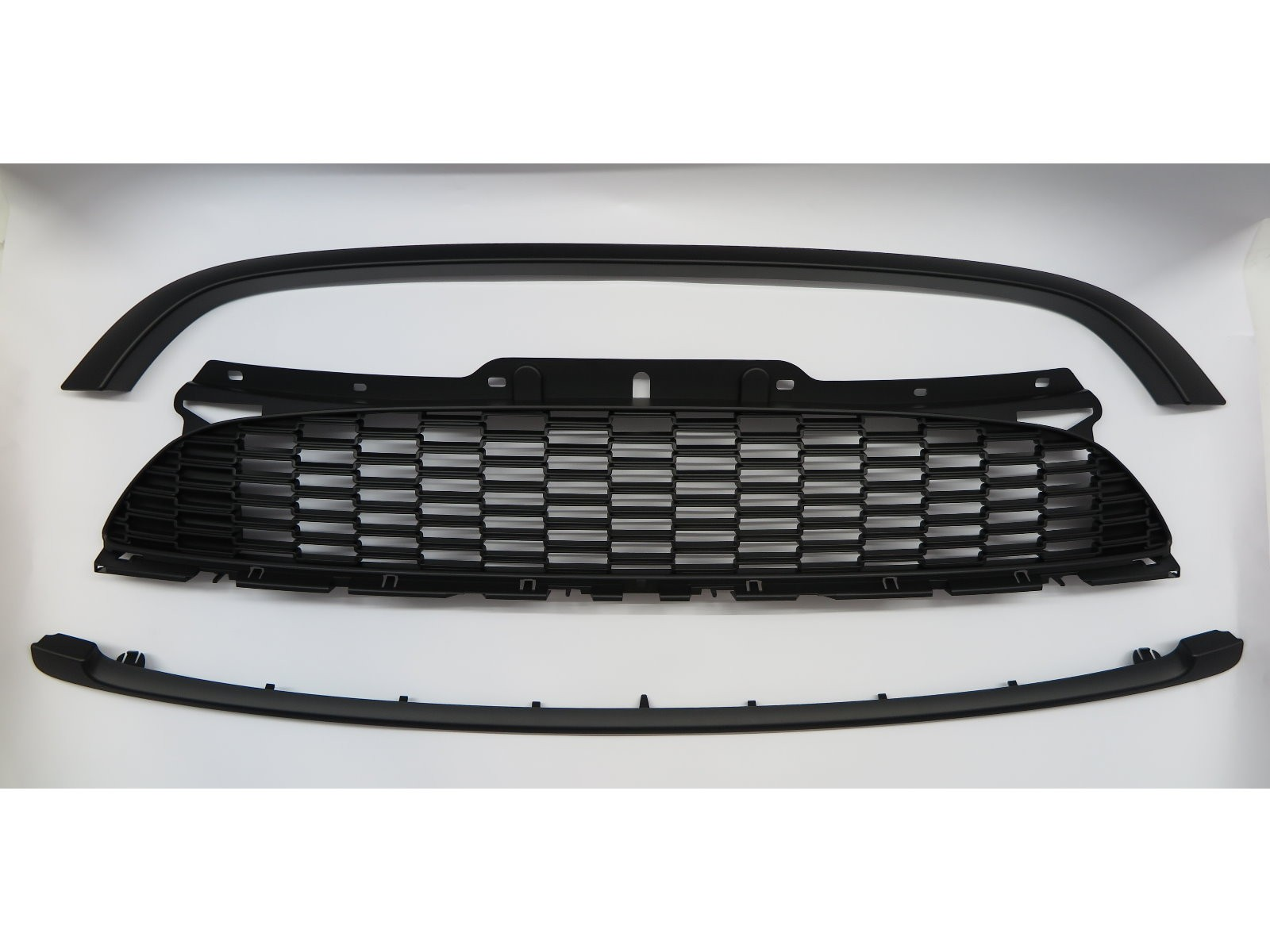 CrazyTheGod MINI COOPER S R55 R56 R57 R58 Second generation 2007-2013 Hatchback/Coupe/Convertible 2D/4D JCW Style GRILLE/GRILL Matt Black for MINI