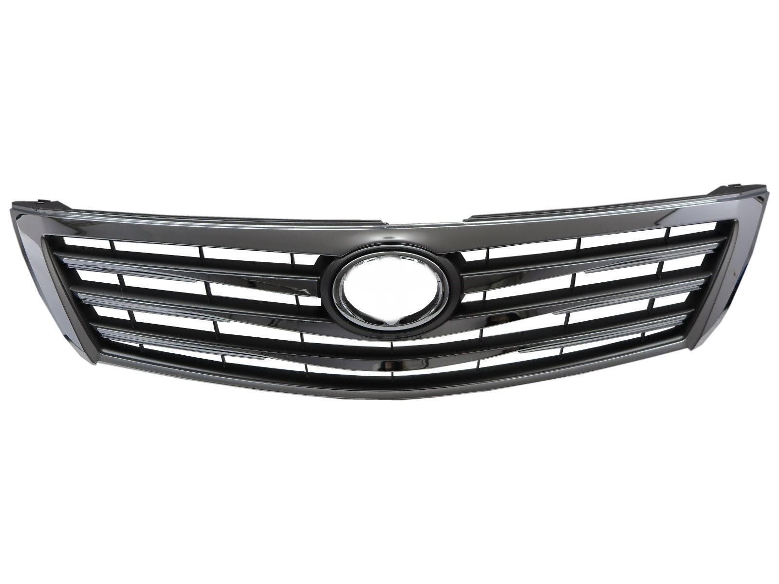 CrazyTheGod AURION XV40 2009-2011 FACELIFT Sedan 4D 4FIN GRILLE/GRILL Chrome for TOYOTA