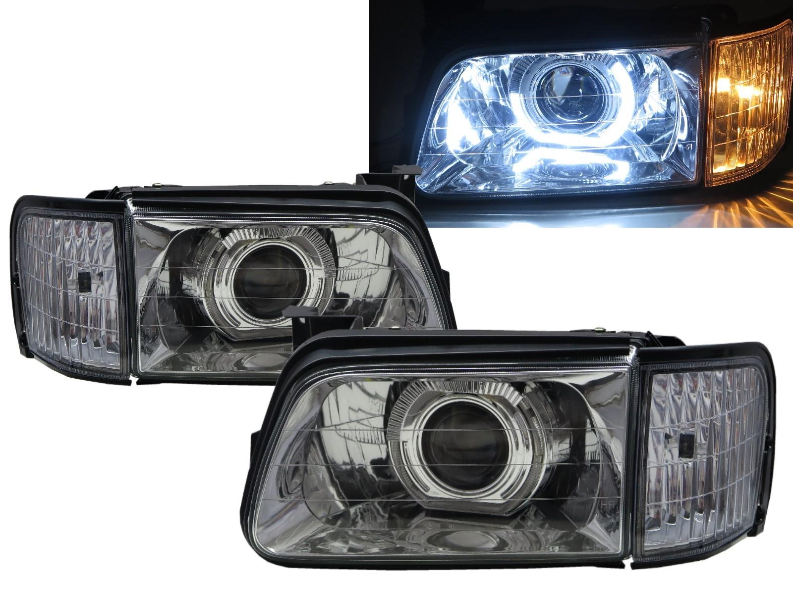 CrazyTheGod Tourmaster 1997-1998 Pickup 4D Guide LED Angel-Eye Projector W/ Corner Lamp Headlight Headlamp Chrome for HONDA RHD