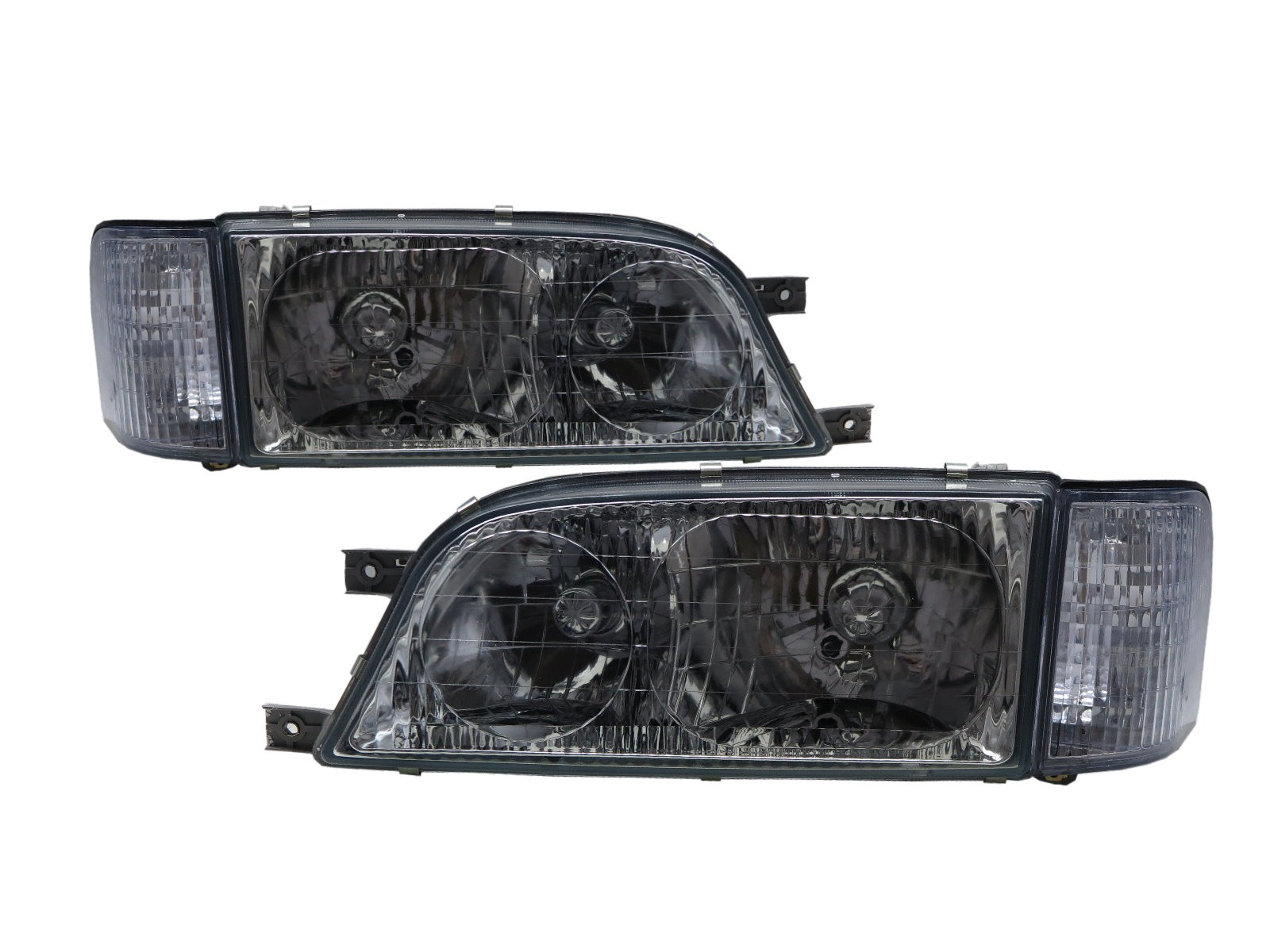 CrazyTheGod Istana 1995-2004 Minibus/VAN 4D Clear W/ Corner Lamp Headlight Headlamp Chrome for SsangYong LHD