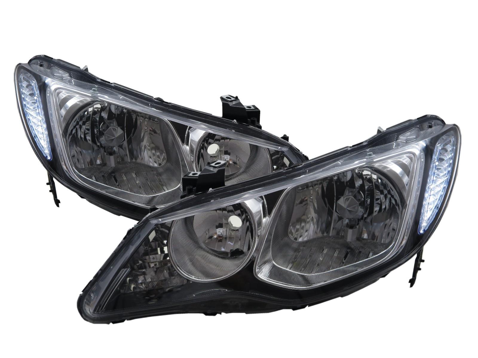 CrazyTheGod Ciimo 2012-2016 Sedan 4D Clear Headlight Headlamp Black for Dongfeng LHD