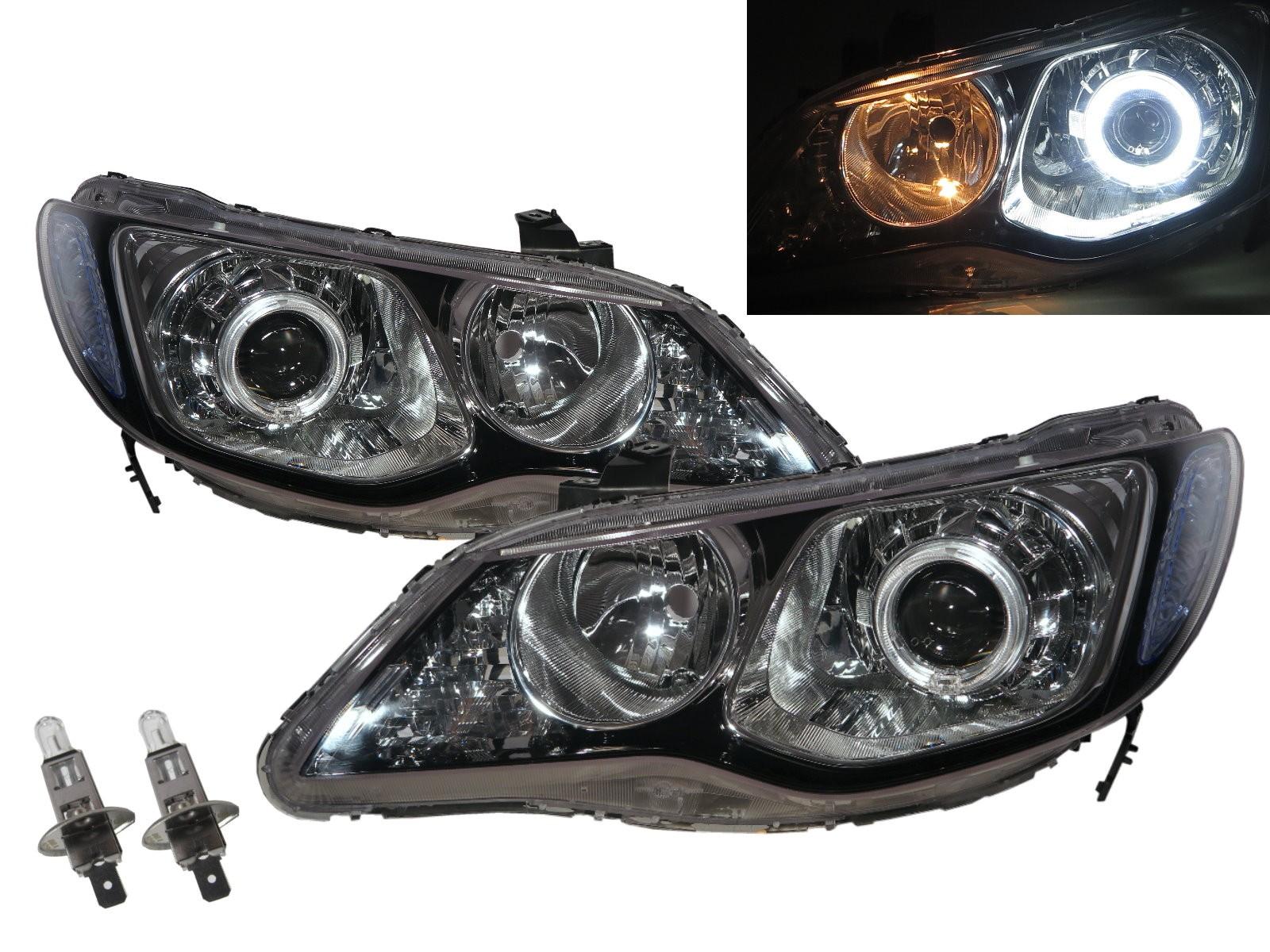 CrazyTheGod Ciimo 2006-2011 Sedan 4D Guide LED Angel-Eye Projector Headlight Headlamp Black RussiaSouth AfricaASIAJAPANAustralia for Dongfeng RHD