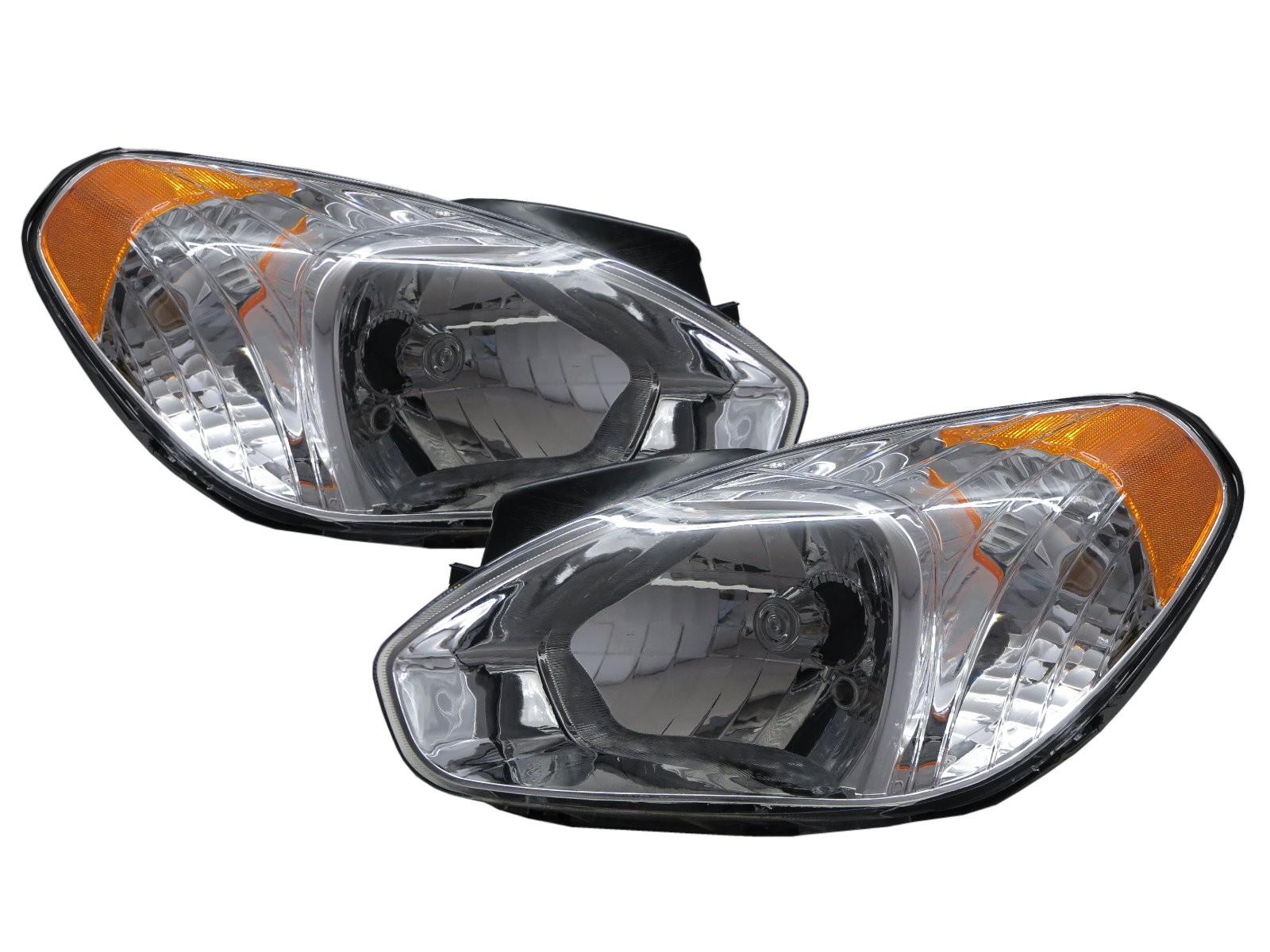 CrazyTheGod Attitude MC First generation 2005-2011 Sedan 4D Clear Headlight Headlamp Chrome V2 for DODGE LHD