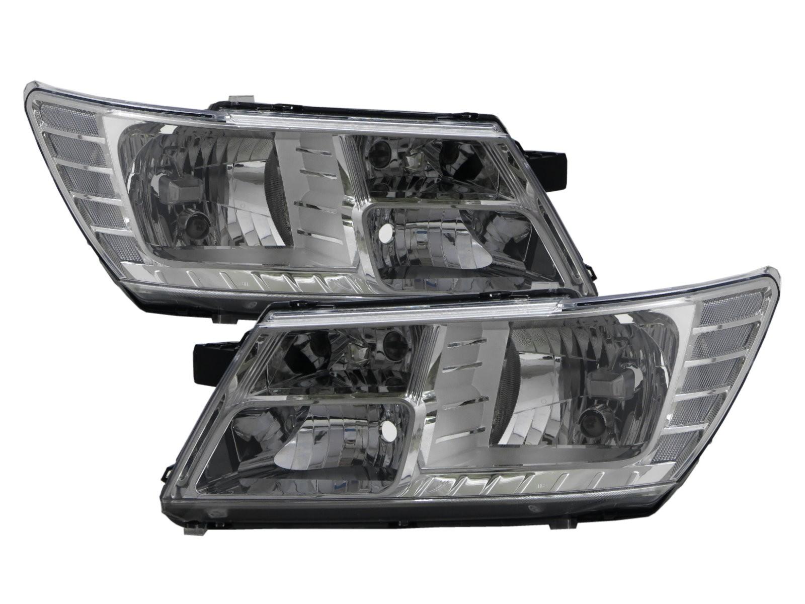 CrazyTheGod Journey JC 2009-present SUV 5D Clear Headlight Headlamp Chrome for DODGE LHD