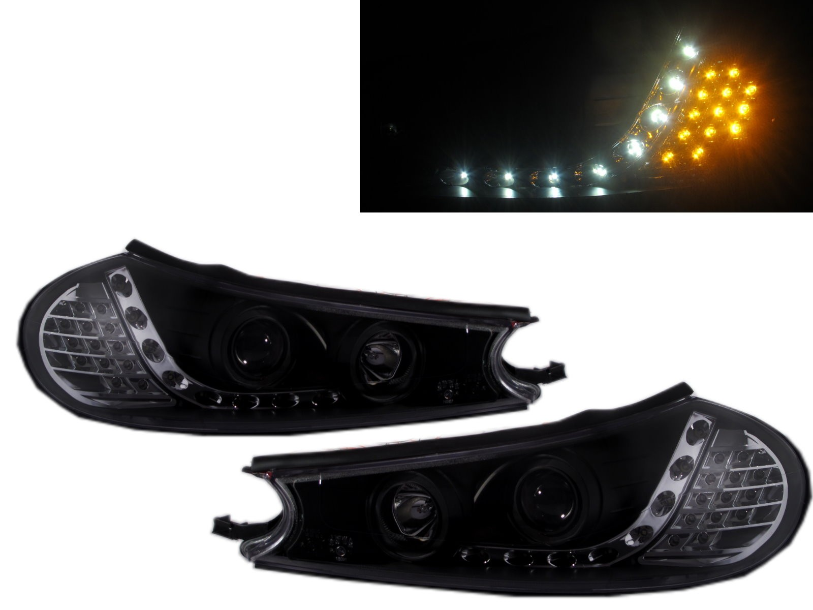 CrazyTheGod MONDEO HC/HE Second generation 1996-2001 Wagon 4D/5D Projector Headlight Headlamp Black for FORD LHD