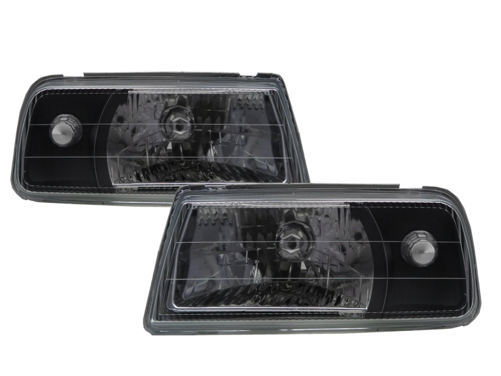 CrazyTheGod Tracker 1988-1998 Convertible 2D Clear Headlight Headlamp Black for GEO LHD