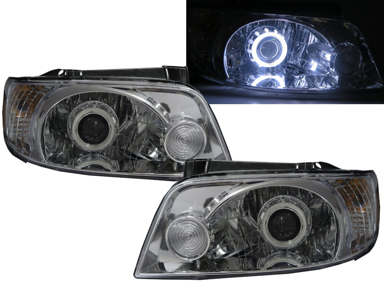 CrazyTheGod Elantra Lavita FC 2001-2004 Pre-Facelift Hatchback 5D CCFL Projector Headlight Headlamp Chrome for HYUNDAI RHD