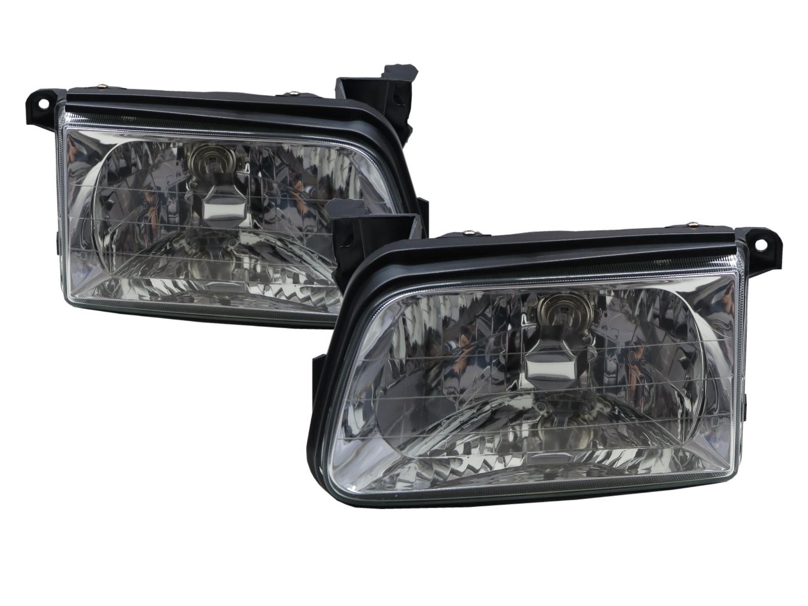 CrazyTheGod Dragon Power 2000-2002 Pickup Truck/Ute/Bakkie 4D Clear Glass Headlight Headlamp Chrome for ISUZU LHD