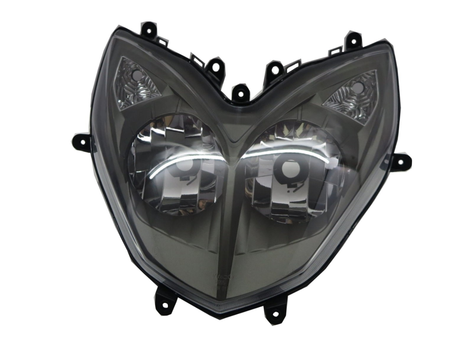 CrazyTheGod Movie 2013-2014 Motorcycles Clear Headlight Headlamp Black for Kymco