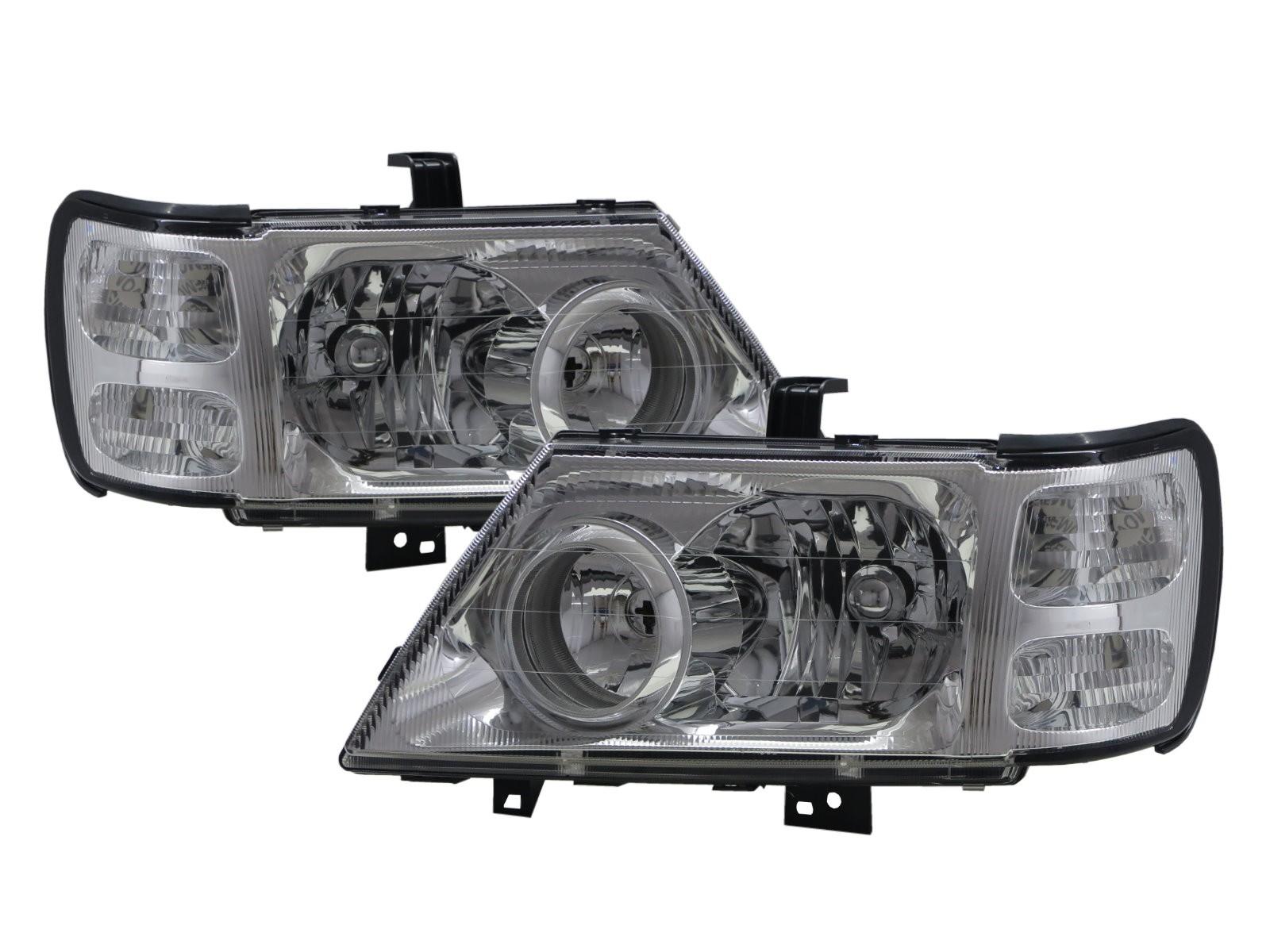 CrazyTheGod Jolie 2001-2003 Wagon/Truck 2D/5D Clear Headlight Headlamp Chrome for Mitsubishi LHD