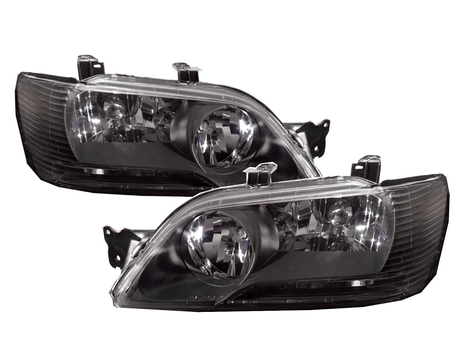 CrazyTheGod LANCER CEDIA/CG 2001-2003 Sedan/Wagon 4D/5D Clear Headlight Headlamp Black US for Mitsubishi LHD