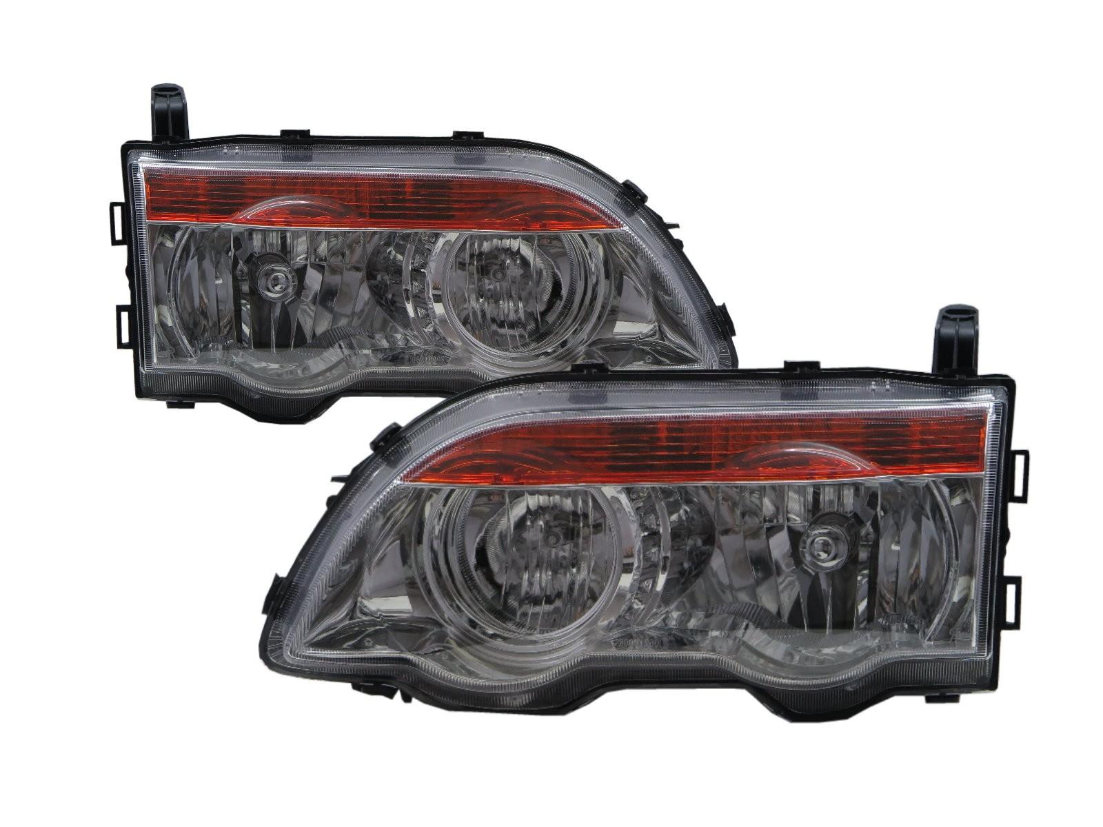 CrazyTheGod Space Gear L400 Fourth generation 2005-2008 Facelift Minivan 4D Clear Headlight Headlamp Chrome for Mitsubishi LHD