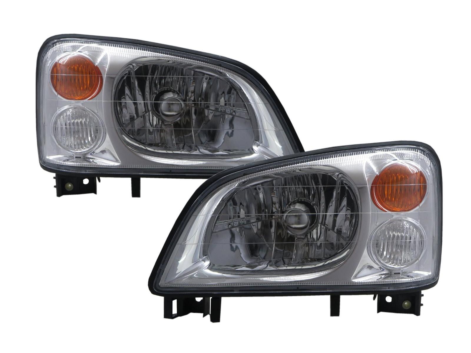 CrazyTheGod Veryca 2000-2009 Truck 2D/4D Clear Headlight Headlamp Chrome for Mitsubishi LHD