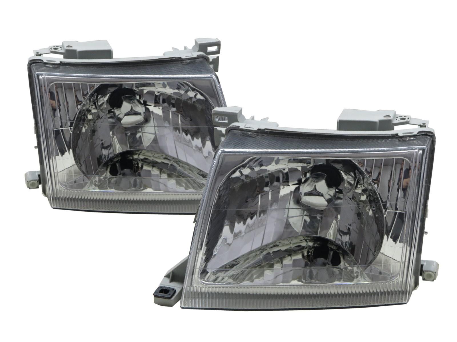 CrazyTheGod Xterra D22 First generation 2000-2001 Facelift Truck 2D/4D Clear Headlight Headlamp Chrome for NISSAN LHD