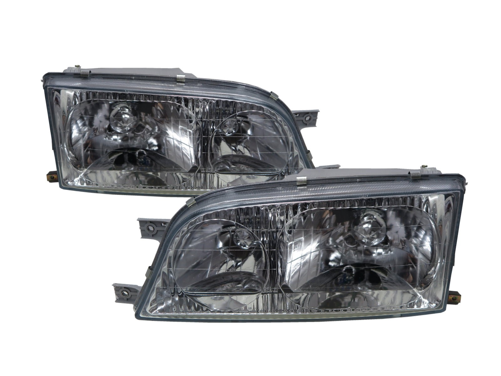 CrazyTheGod Istana 1995-2004 Minibus/VAN 4D Clear Glass Headlight Headlamp Chrome for SsangYong LHD