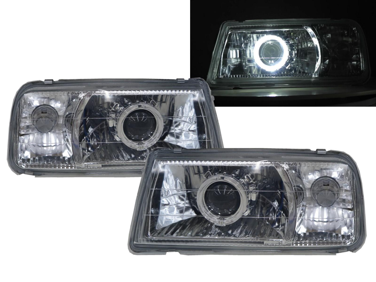 CrazyTheGod VITARA ET/TA First generation 88-98 Convertible/SUV 2D/3D/5D Guide LED Halo Headlight Headlamp Chrome V1 for SUZUKI RHD