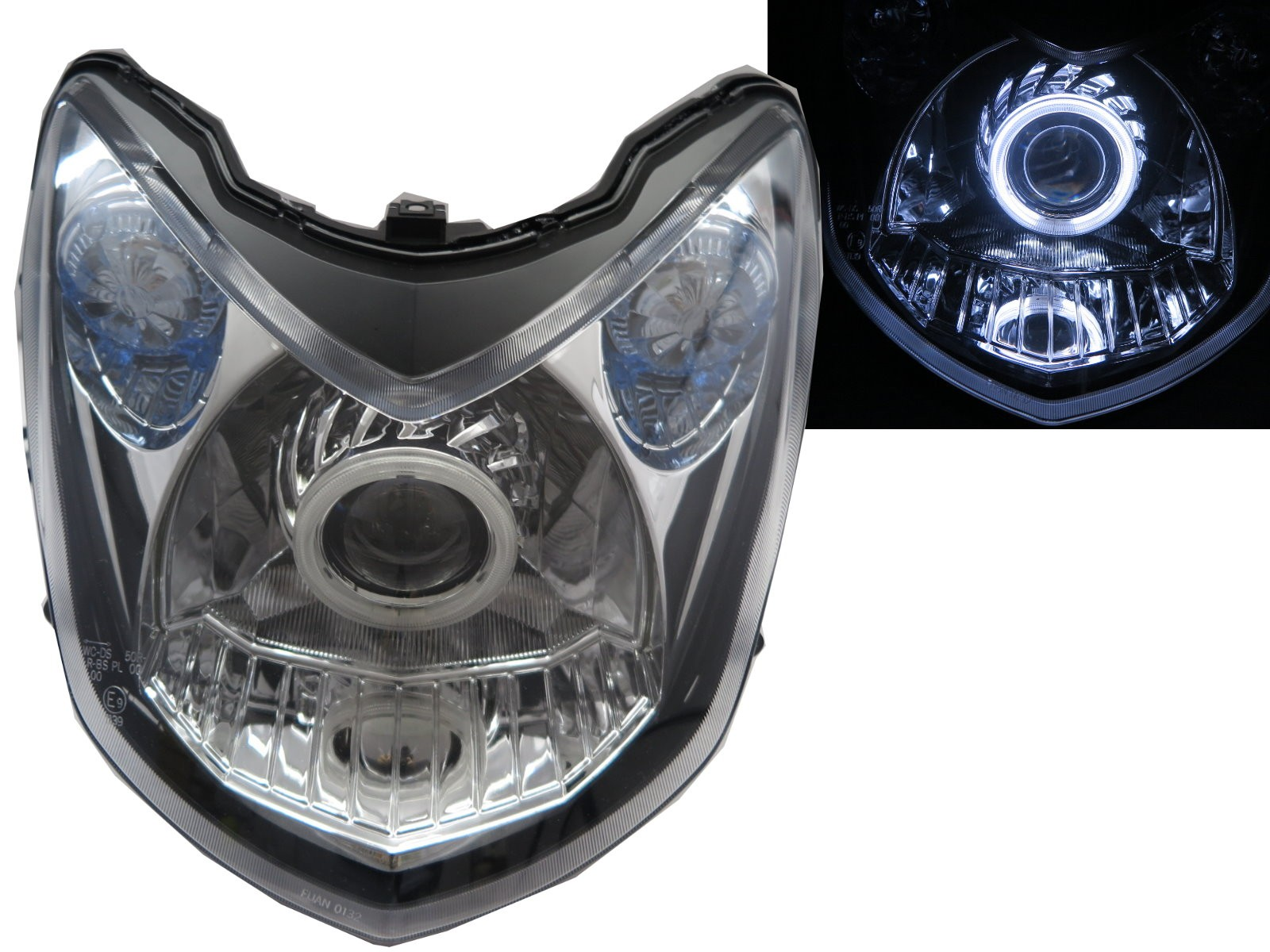 CrazyTheGod Cygnus 2008-2015 CCFL Projector Headlight Headlamp EUROPE Chrome for YAMAHA