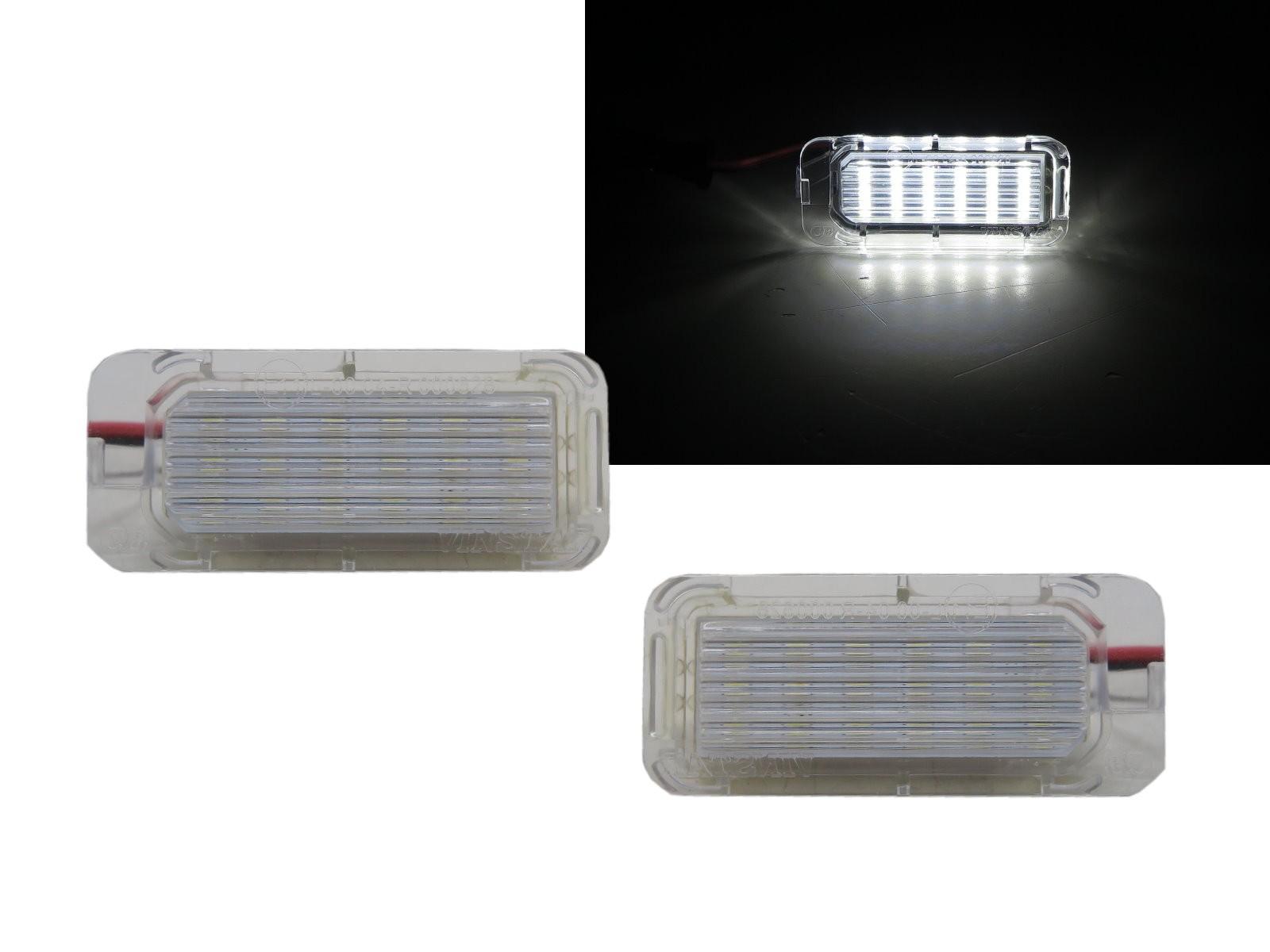 CrazyTheGod XJ 2007-Present Sedan 4D LED License Lamp White for JAGUAR
