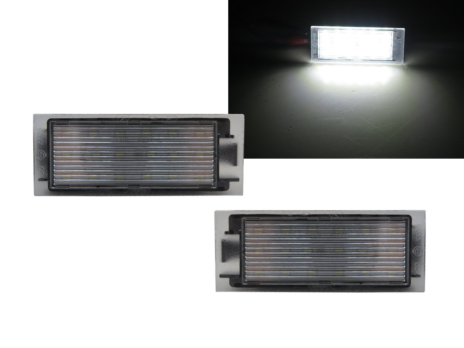 CrazyTheGod MEGANE II Second generation 2006-2009 Hatchback/Wagon 3D/5D LED License Lamp White for RENAULT