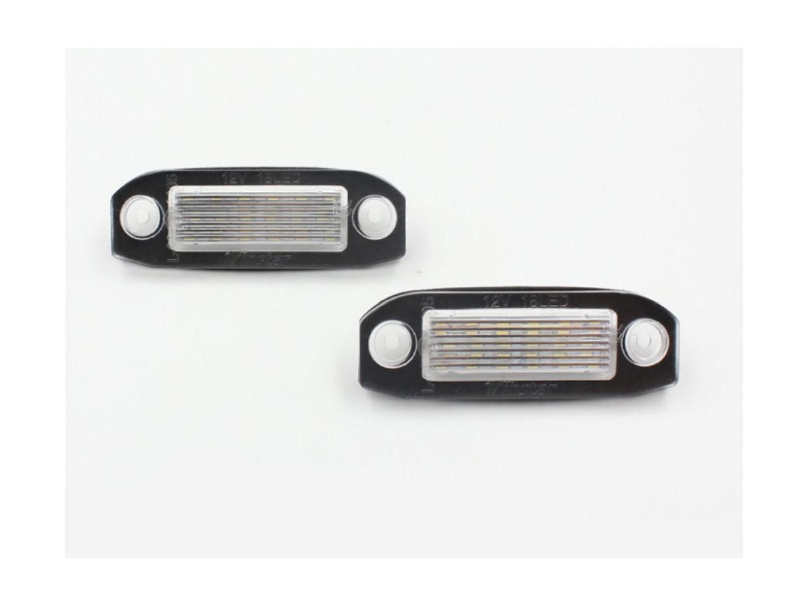 CrazyTheGod S60 2011-2015 Sedan 4D LED License Lamp White for VOLVO