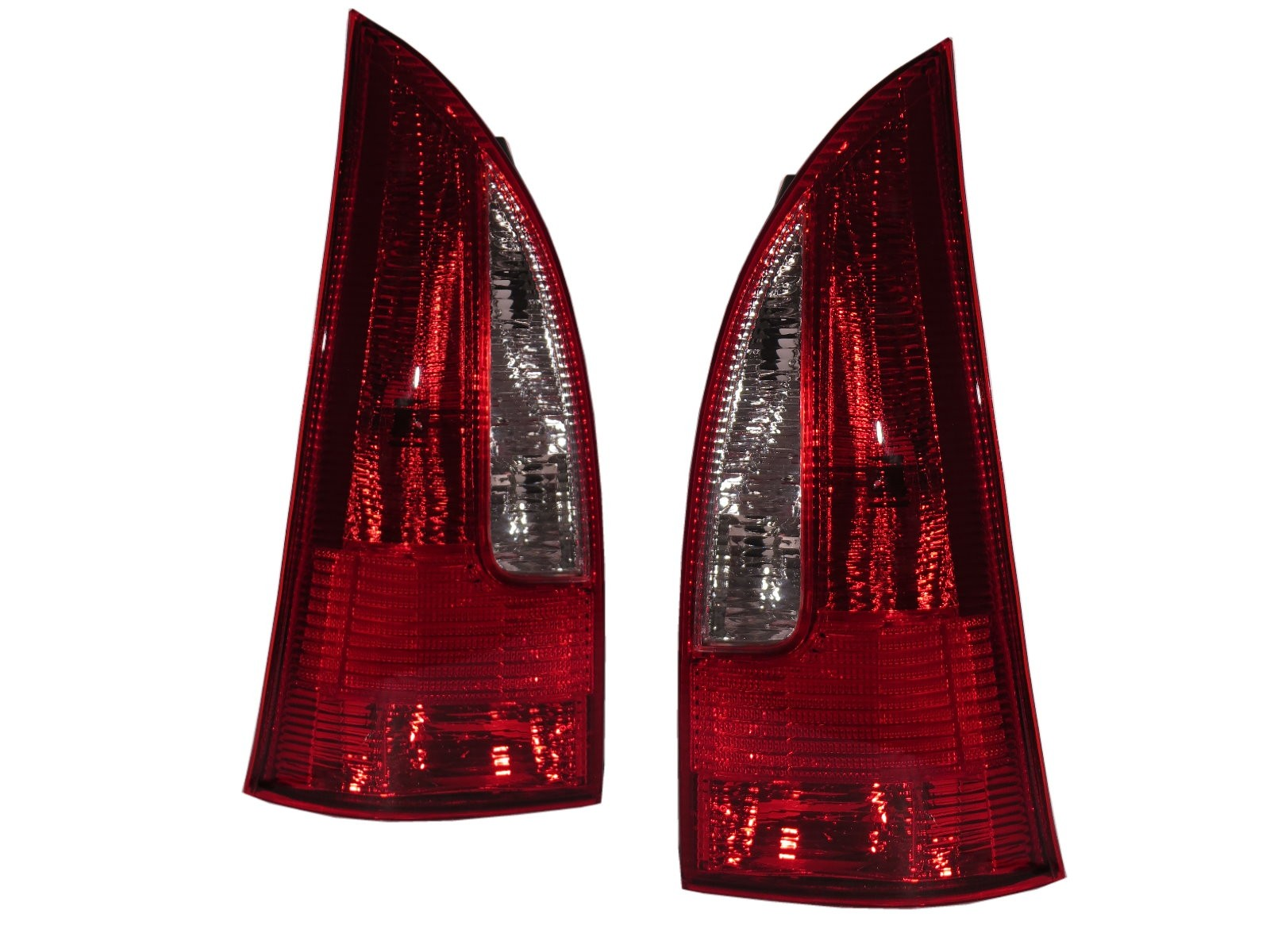 CrazyTheGod Ixion/MAV First generation 1999-2001 PRE-FACELIFT MPV 5D Clear Tail Rear Light Red for FORD