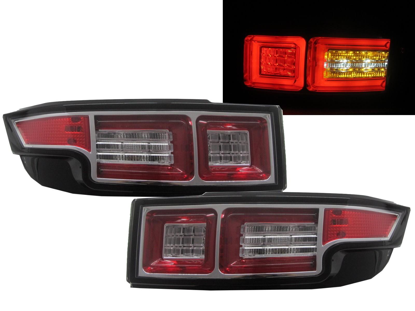 CrazyTheGod Range Rover Evoque L538 2011-Present LED Tail Rear Light CHROME for Land Rover