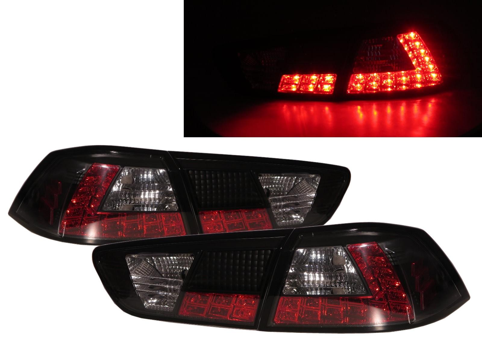 CrazyTheGod LANCER EVOLUTION EVO EVOLUTION EVO X 10 Tenth generation 2008-2016 Sedan 4D LED Tail Rear Light Black V3 for Mitsubishi