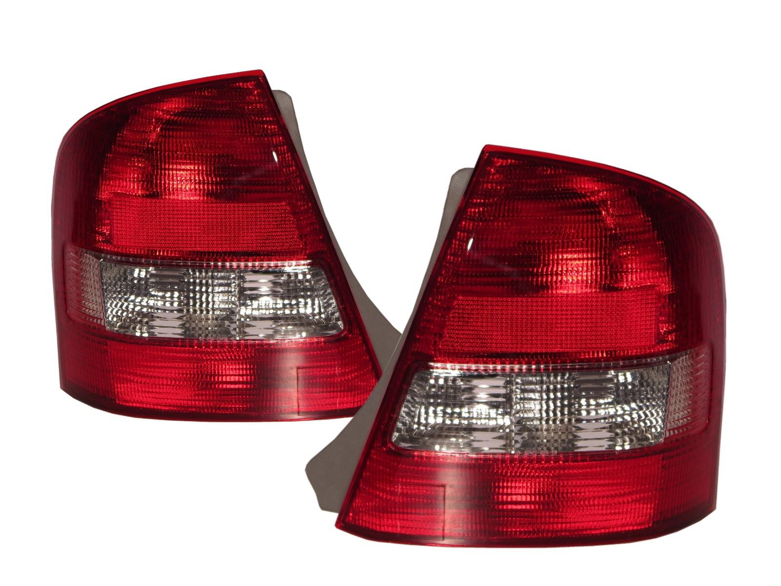 CrazyTheGod Familia BJ Eighth generation 1998-2004 Sedan 4D Clear Tail Rear Light Red/White V4 for MAZDA