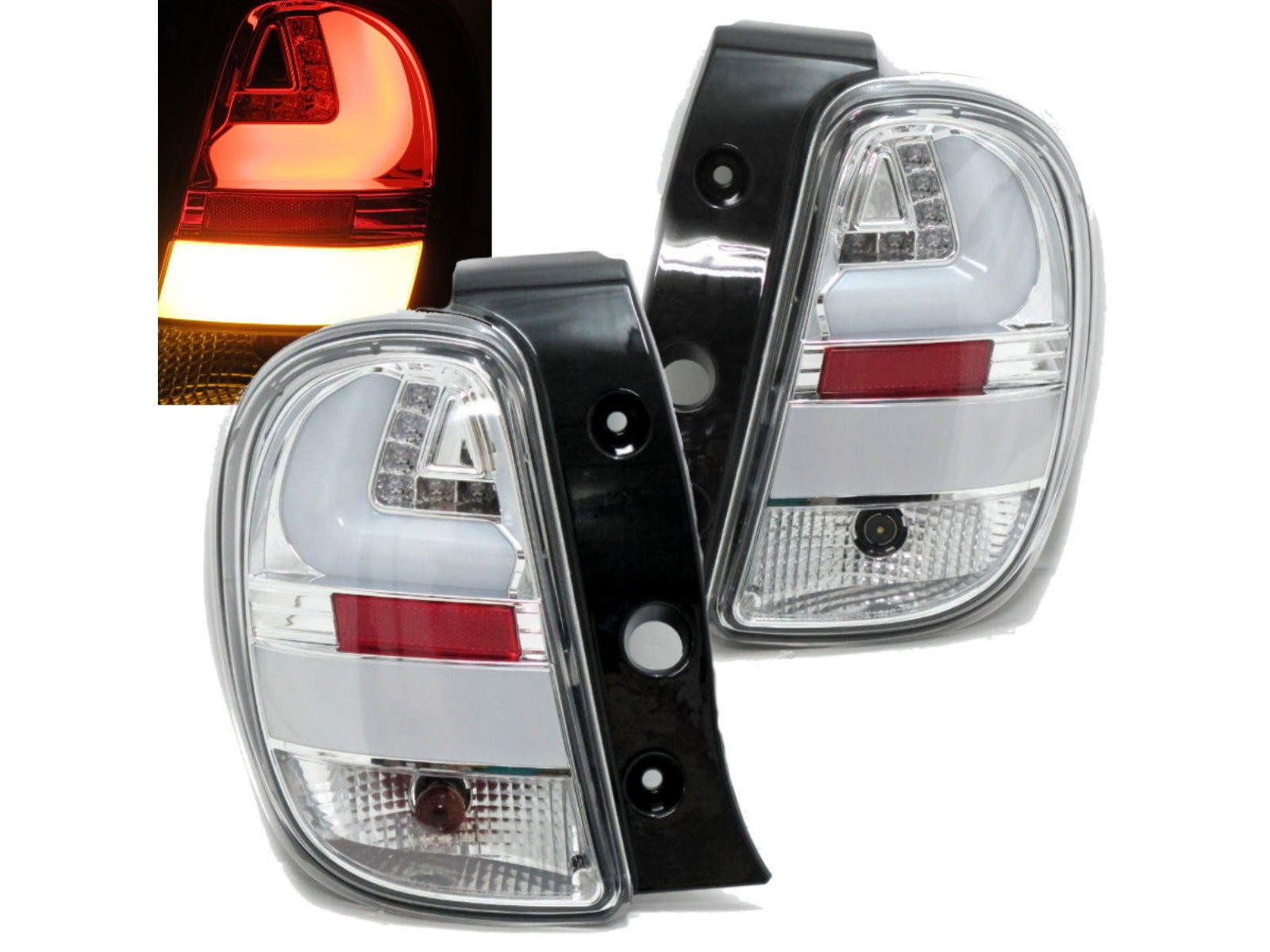 CrazyTheGod Micra/March K13 Fourth generation 2010-present Hatchback 5D LED Tail Rear Light Chrome for NISSAN