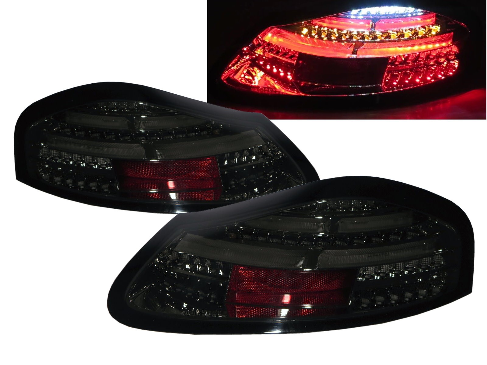 CrazyTheGod BOXSTER 986 First generation 1996-2004 Roadster 2D LED Tail Rear Light Smoke for PORSCHE