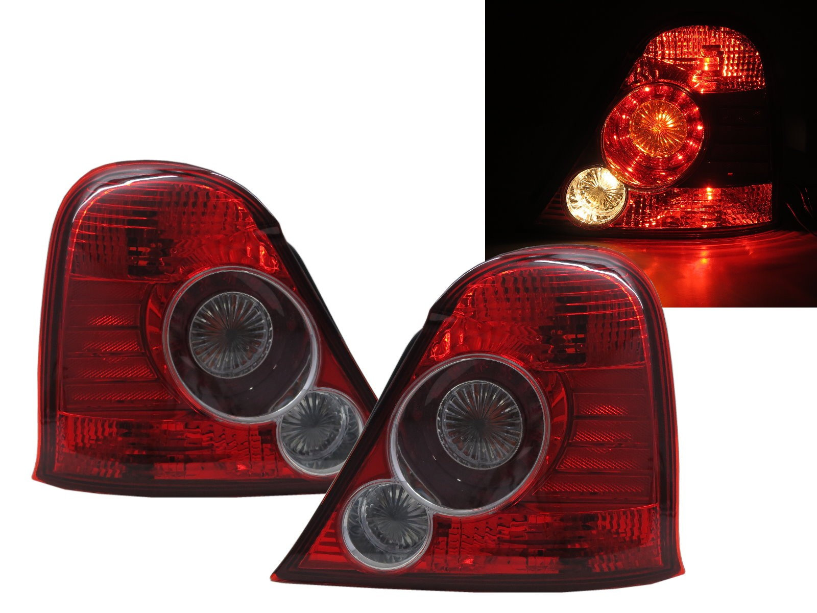 CrazyTheGod ROVER 75 1999-2003 Sedan 4D Clear Tail Rear Light Red for ROVER