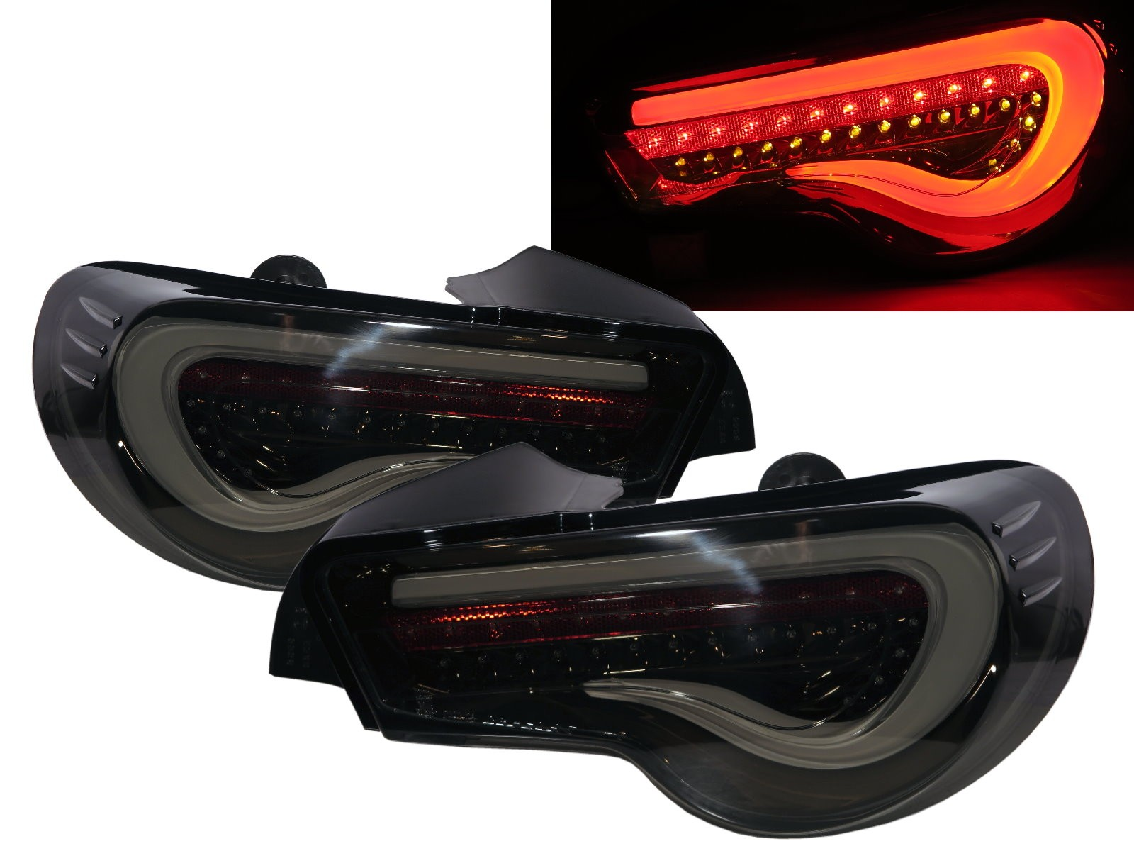 CrazyTheGod BRZ ZN6 2012-Present Coupe 2D LED Dynamic Turn signal Tail Rear Light Smoke US for SUBARU