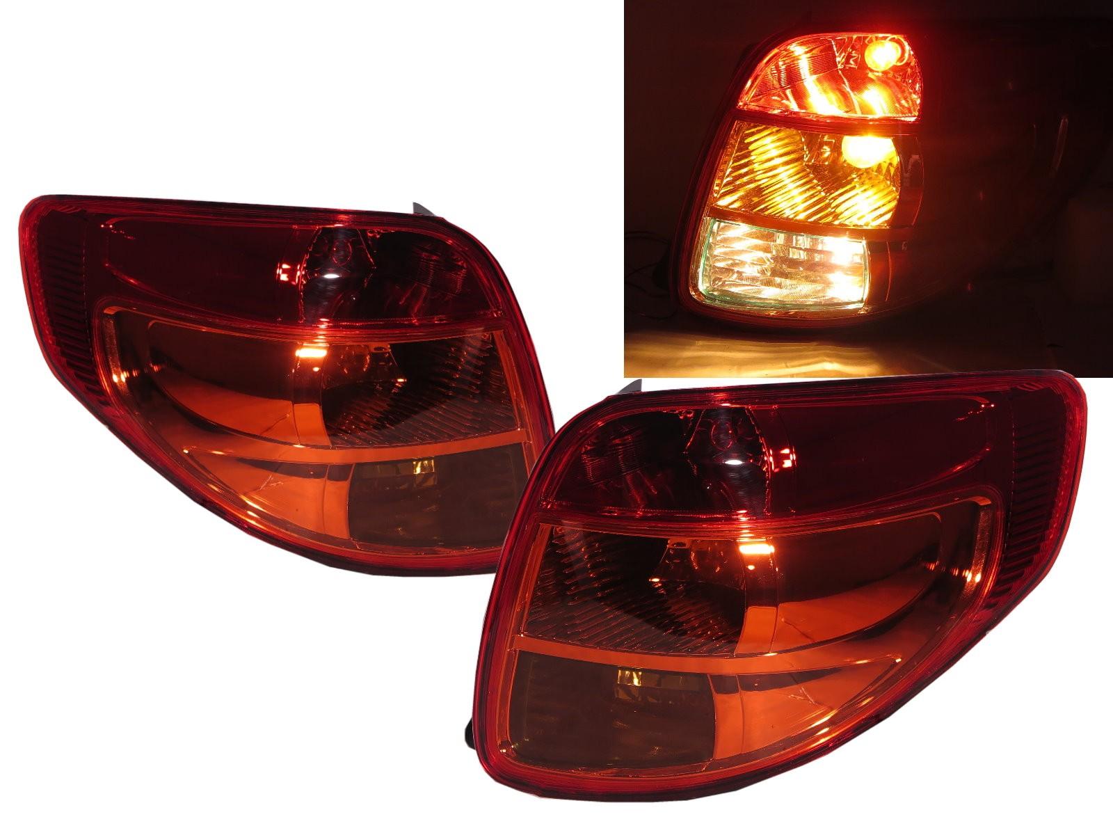 CrazyTheGod SX4 First generation 2007-2013 Hatchback 5D Clear Tail Rear Light Red for SUZUKI