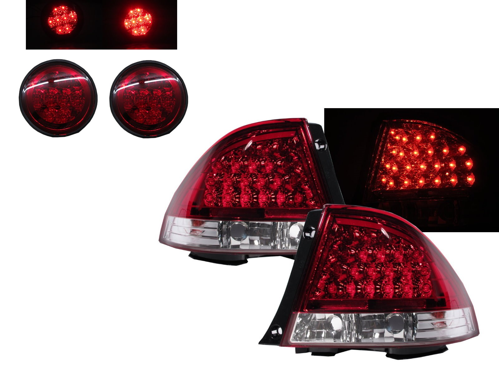 CrazyTheGod IS IS200/IS300 XE10 1999-2005 Sedan/Hatchback/Wagon 4D/5D LED Tail Rear Light Red/White for LEXUS