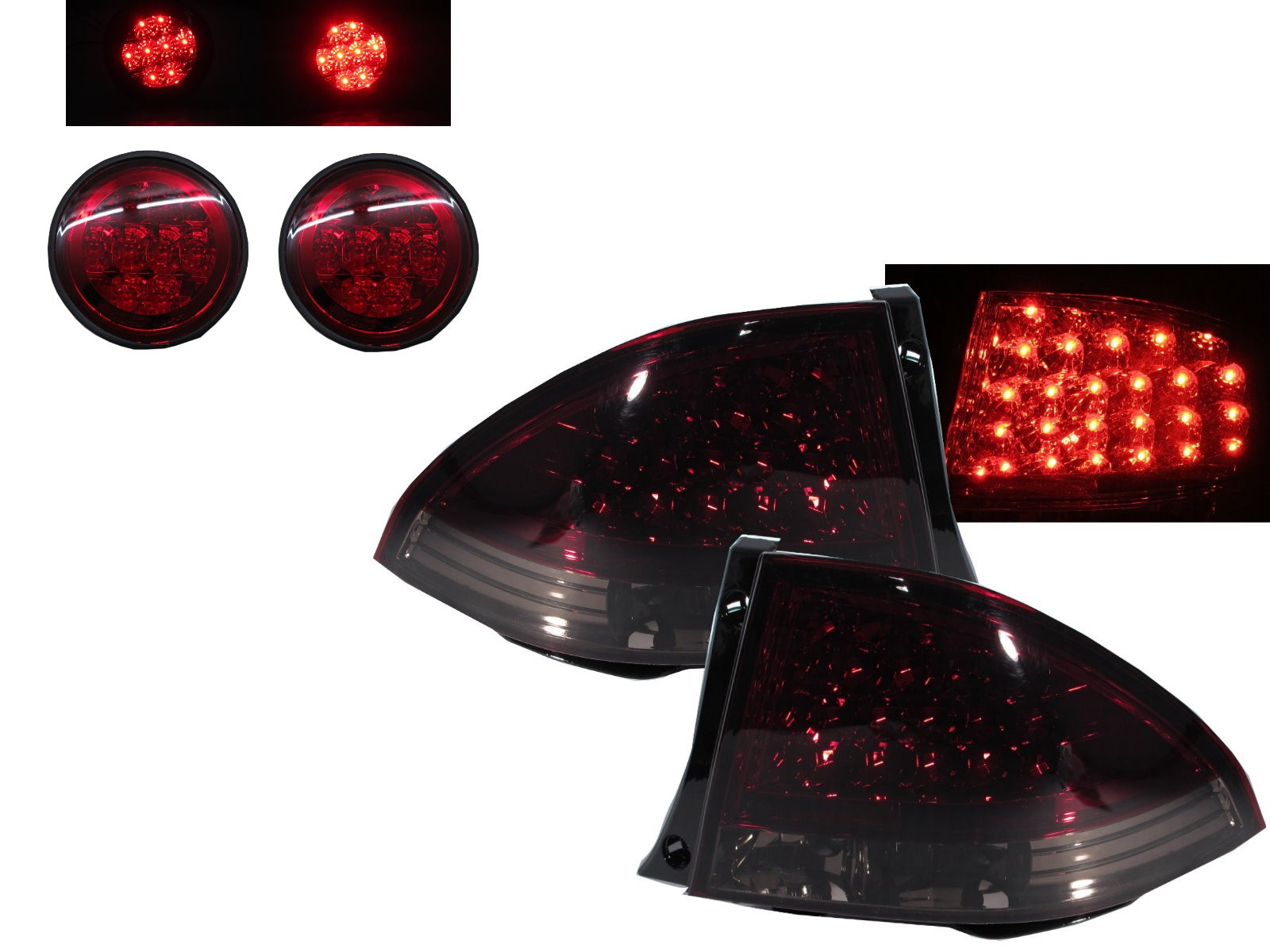 CrazyTheGod Altezza XE10 First generation 1999-2005 Sedan/Hatchback/Wagon 4D/5D LED Tail Rear Light Red/Smoke for TOYOTA