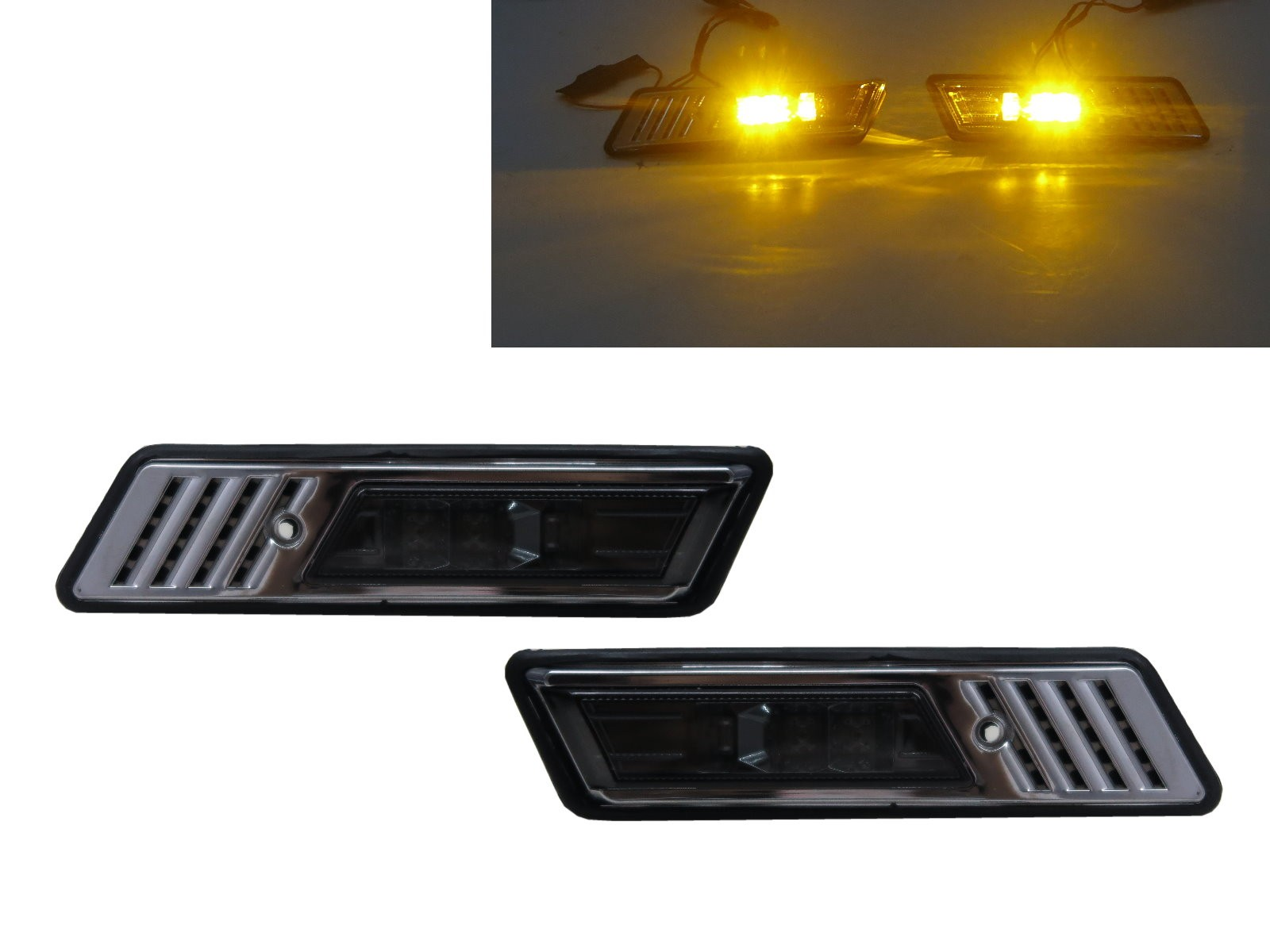 CrazyTheGod 3-Series E30 M3 1991-1996 Coupe/Convertible 2D LED Z3Look Side Marker Light Lamp Smoke for BMW