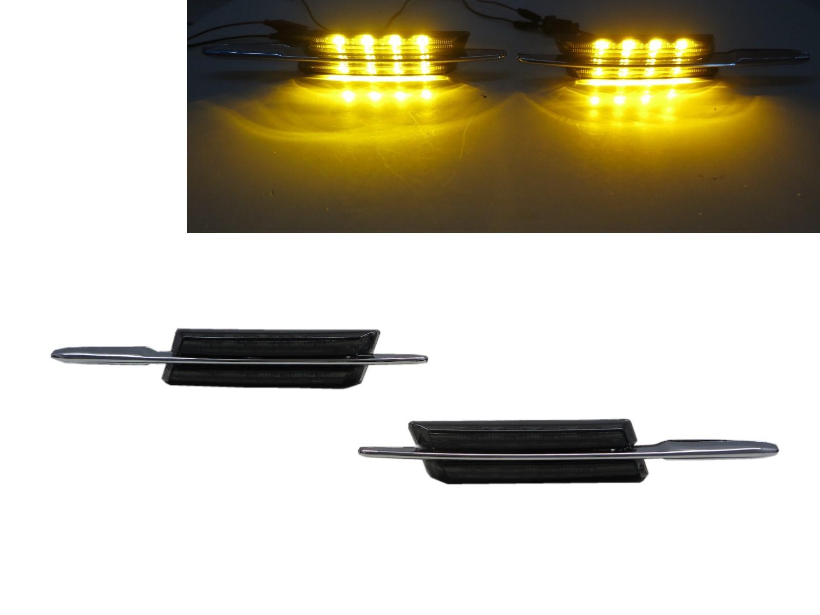 CrazyTheGod 3-Series E90/E91/E92/E93 Fifth generation 2004-2013 Sedan/Wagon/Coupe/Convertible 2D/4D/5D LED Side Marker Light Lamp Smoke for BMW